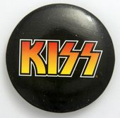 Kiss - 'Logo Black Background' Large Button Badge